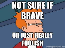Not Sure if Brave Or just really foolish - Futurama Fry | Meme ... via Relatably.com