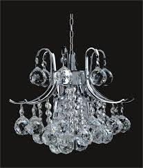 gold or chrome mini chandelier with european or swarovski spectra crystal strands