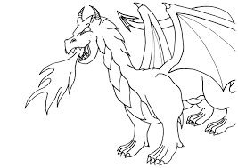 Small Picture Coloring page Dragon by Vithsiny on DeviantArt
