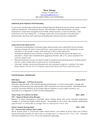 Banking Executive Sample Resume 14 Bank Manager Cover Letter