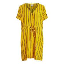 <b>Платье короткое расклешенное</b> в полоску, v-образный воротник ...