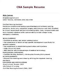 Objective On Resume For Cna Cna Resume Templates Vasgroupco 28