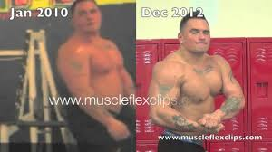 Kyle Schafer mandatory poses comparison January 2010 and December ...