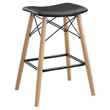 Retro <b>Modern Faux Leather</b> Counter Kitchen Stool - Black - Saracina ...