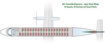 De Havilland Dhc 8 Dash 8 400 Seating Chart Bombardier Q400 Air Canada Express Flyradius