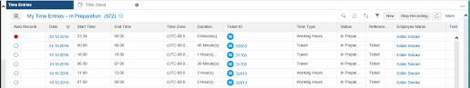 Time Recording Time Recording In Hybris Cloud For Customer Sap Blogs