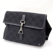 gucci waist bag. gucci gg canvas waist bag pouch black 92543 gucci