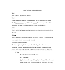 Business Brief Example Case Brief Example Rome Fontanacountryinn Com
