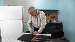 refrigerator repair replacing the door shelf retainer bar frigidaire part 215366002 you