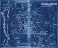 Amazon Com Vintography 18 X 24 Blueprint Style Reproduced