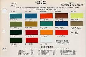 1972 Camaro Color Chart Rarest Paint Color Page 4 The
