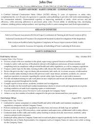 Safety Officer Resume For Experienced Do 5 Things