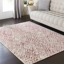 pink and cream rug surprise bungalow rose puran area com interior design 9