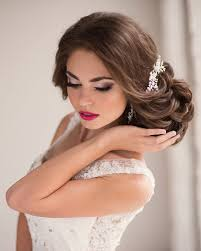 pretty wedding hairstyle updo bridal hair and makeup