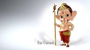 Little Bal Ganesh 3D HD Wallpaper 1366 ...