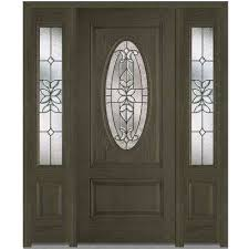 black front doors. Perfect Front 64 In X 80 Cadence RightHand Inswing Oval Lite Decorative Stained On Black Front Doors N