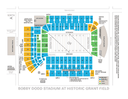 Bobby Dodd Seating Chart Rows Elcho Table
