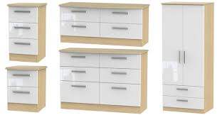 white furniture bedroom. Knightsbridge High Gloss White And Light Oak Furniture Bedroom