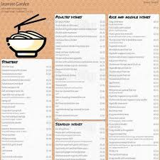 menu for jasmine garden