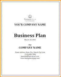 How To Do A Cover Page Beauteous Sample Business Plan Cover Page Samancinetonicco