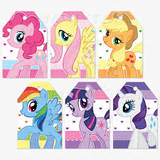 Small Picture My Little Pony Birthday Party Thank You Favor Tags DIY Party