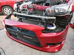 mitsubishi evo custom turbo. modp_1006_05_o2008_mitsubishi_evolution_xintercooler_upgrade mitsubishi evo custom turbo