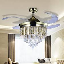terrific bedroom chandeliers with fans 2018 led light ac 110v 220v invisible blades ceiling
