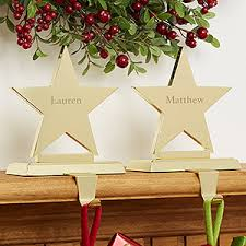 Engraved Brass Star Stocking Holders - On Sale Today!