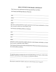 Template Of A Contract Between Two Parties Brilliant Real Estate Purchase Contract Form Template Between Two