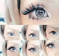 fake eyelashes for gyaru makeup