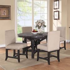 yosemite 5 piece round set round table with 4 upholstered side chairs bernie phyl s furniture by modus furniture international