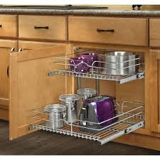 Tiered Shelves For Cabinets Rev A Shelf 19 In H X 1175 In W X 18 In D Base Cabinet Pull