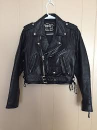 women s first genuine leather jacket with harley davidson patch size small for in stanley nc offerup