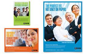 Recruitment Brochure Template Staffing Recruitment Agency Flyer Ad Template Design