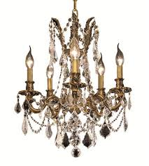 chandeliers 5 light with french gold finish elegant cut e12 bulb 18 inch 300 watts world of classic
