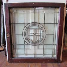 4417 antique leaded beveled glass window