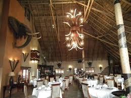 oryx trail game lodge safaris beautiful chandeleer in restaurant