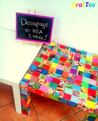 diy decoupage furniture. DIY Decoupage On IKEA Lack Table Diy Furniture