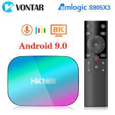 VONTAR HK1 BOX 8K 4GB 128GB TV Box Amlogic S905X3 Android 9.0 1000M Dual  Wifi 4K 60fps GooglePlay Youtube Media Player Set-top Boxes