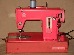 Vintage Pink Sewing Machine For Sale