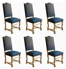 cloth dining room chairs fresh six french dining chairs os de mouton louis xiii bleached oak