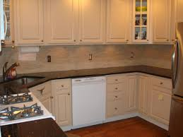 Marble Tile Backsplash Kitchen Kitchen Backsplash Ideas With White Cabinets Silver Gas Range