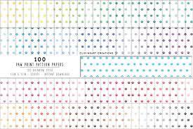 Paw Print Pattern Custom Design Inspiration