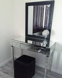 minimalist makeup room ideas with rectangle shaped mirrored dresser vanity desk has three drawers and black charming makeup table mirror
