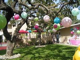 Garden Parties Ideas Pict Simple Decoration
