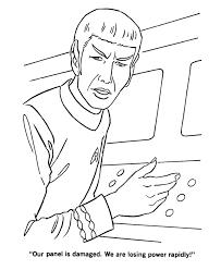 Star Trek Coloring Pages Mr Spock At Damage Control Station Tv