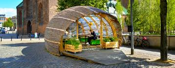 garden hut. Unique Garden Tiny Woven Hut Invites Danish Public To Experience Urban Gardening For Garden Hut