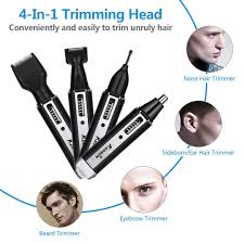dels about 4 in1 professional rechargeable trimmer nose nasal ear eyebrow electric shaver