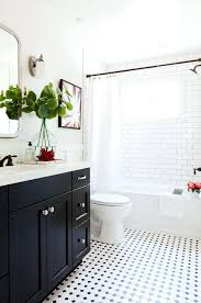 black and white bathroom tile mosaic tile floor ideas for vintage style bathrooms house ideas subway