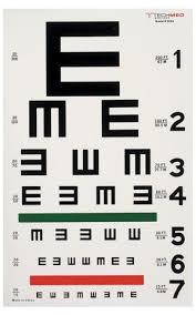 Eye Test C Chart Tech Med Eye Charts Illuminated Illiterate Eye Test Chart 20 Ft 10154479